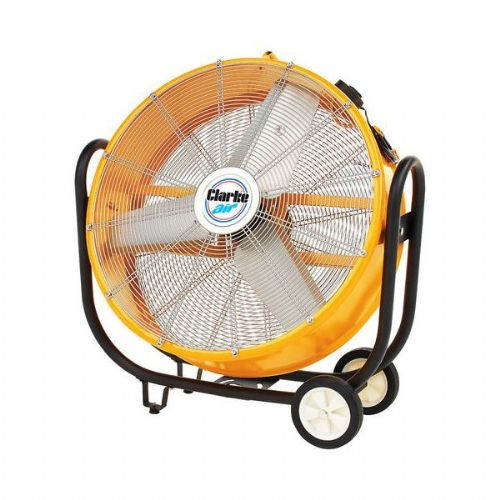 "Clarke CAM110 30"" Robust Portable Electric Drum Fan 7000cfm 110V~50Hz"
